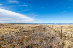 New Mexico Landscape. A dry New Mexico landscape, with a blue sky overhead stock image