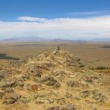 Dry New Zealand landscape Royalty Free Stock Image