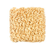 Dry noodle isolated on white Stock Images