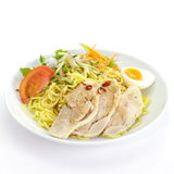Dry noodles with salads Royalty Free Stock Photo