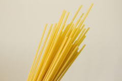 Dry noodles. Still life: just dry noodles. Bucatini (foratini Royalty Free Stock Photos