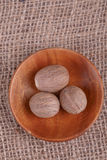 Dry  nutmeg Royalty Free Stock Photos