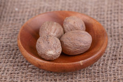 Dry  nutmeg Royalty Free Stock Photo