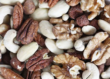 Dry nuts for snacks Stock Photos