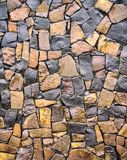 Dry old stone wall texture background close-up Royalty Free Stock Photography