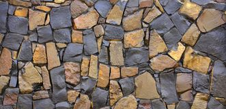 Dry old stone wall texture background close-up Royalty Free Stock Photos