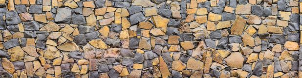 Dry old stone wall texture background close-up Stock Photography