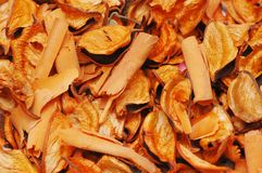 Dry orange leaves - can be used as background Stock Images