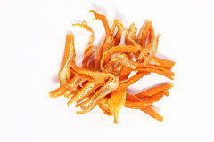 Dry orange peel Stock Photos