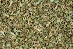 Dry Oregano herb on texture. Background royalty free stock images