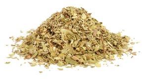 Dry oregano. Over white background Royalty Free Stock Images