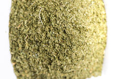 Dry Organic Green Parsley Flakes Ready for seasoning food Royalty Free Stock Photography