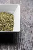 Dry Organic Green Parsley Flakes Ready for seasoning food Stock Image