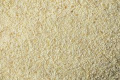 Dry Organic Ground Farina Wheat. In a Bowl Royalty Free Stock Image