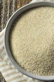Dry Organic Ground Farina Wheat. In a Bowl Royalty Free Stock Photo
