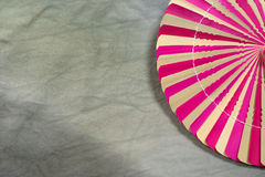Dry palm leaf pink and brown Stock Photo
