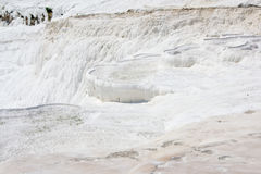 Dry pamukkale pools Royalty Free Stock Image