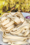 Dry Pappardelle Royalty Free Stock Photography