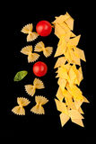 Dry Pasta Assortment - Farfalle And Maltagliati Royalty Free Stock Image
