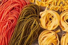 Dry pasta background. Royalty Free Stock Photos