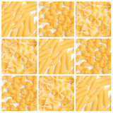 Dry pasta background collage Stock Image