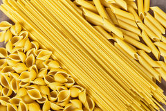 Dry pasta background stock photography