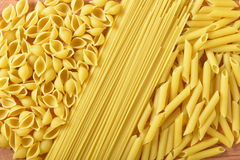 Dry pasta background Royalty Free Stock Photography