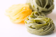 Dry pasta background on white Royalty Free Stock Photography
