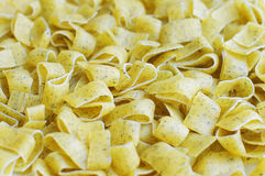Dry pasta with dill Stock Images