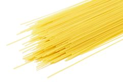 Dry pasta, isolated on white background Royalty Free Stock Photo