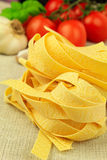 Dry pasta nests Royalty Free Stock Photo