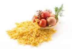 Dry pasta spaghetti with ingredient Stock Photo