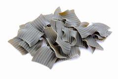 dry pasta spinach 免版税库存照片