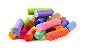 Dry pastel. Chalks isolated on a white background royalty free stock images