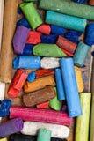 Dry pastels set of crayons royalty free stock image