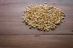 Dry peanut crunchy on wooden table Stock Image