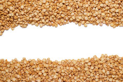 Dry peas background and copy space Royalty Free Stock Images