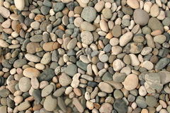 Dry Pebbles. A dry creekbed of round stones stock photos