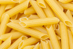 Dry Penne Regata Pasta Stock Photo