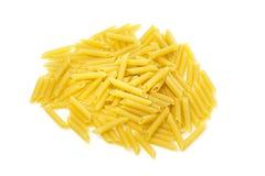 Dry Penne Regata Pasta. Uncooked dry penne regata italian pasta Royalty Free Stock Image