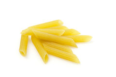 Dry Penne Regata Pasta. Uncooked dry penne regata italian pasta Royalty Free Stock Photos