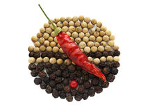 Dry Pepper Sign Royalty Free Stock Image