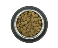 Dry pet food in the bowl Royalty Free Stock Photography