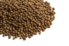 Dry pet food. On white background Stock Photo