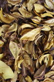 Dry petals. Dry golden petals background texture Stock Photo
