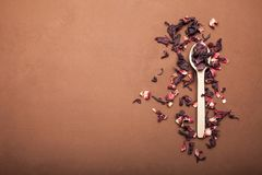 Dry petals of hibiscus for tea making royalty free stock image