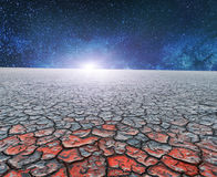 A dry planet Royalty Free Stock Photos
