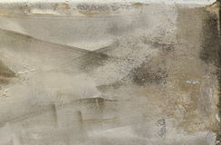 Dry plastering on wall. Grey background for masonry theme. Royalty Free Stock Photos