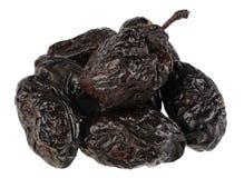 Dry plum. Fruit isolated on white background royalty free stock image