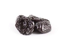 Dry plum isolated on white Stock Image
